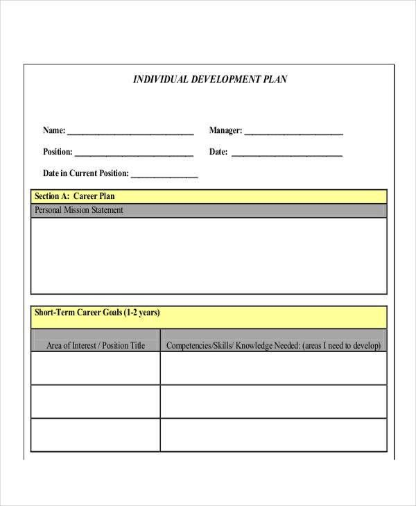 Personal Improvement Plan Examples Performance Improvement Plan - improvement plan template