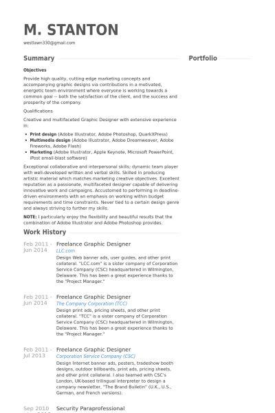 freelance graphic designer resume - Militarybralicious - freelance graphic designer resume