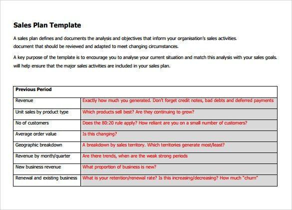 Sales Plan Templates Free Sales Plan Templates Smartsheet, Sample - sample sale order template
