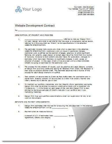 website maintenance contracts