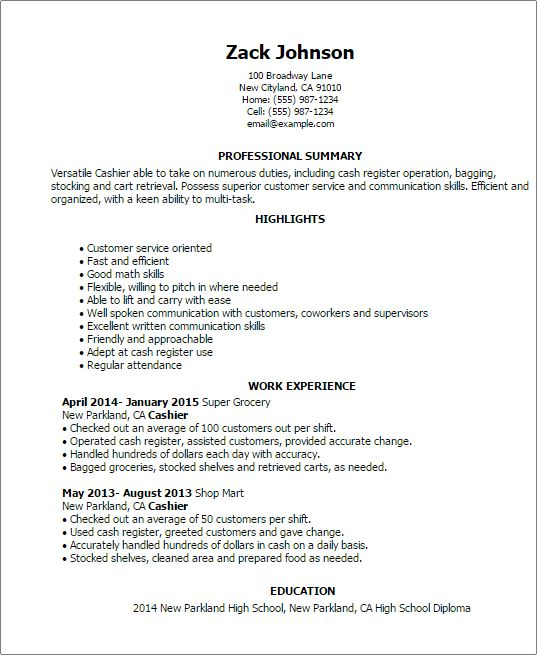 list of cashier skills for resume examples of resumes resume cashier skills