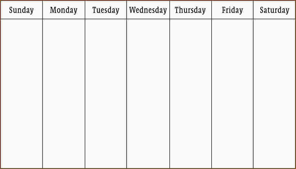 3 Week Calendar Template Weekly Calendar Template For Excel - calendar template pdf