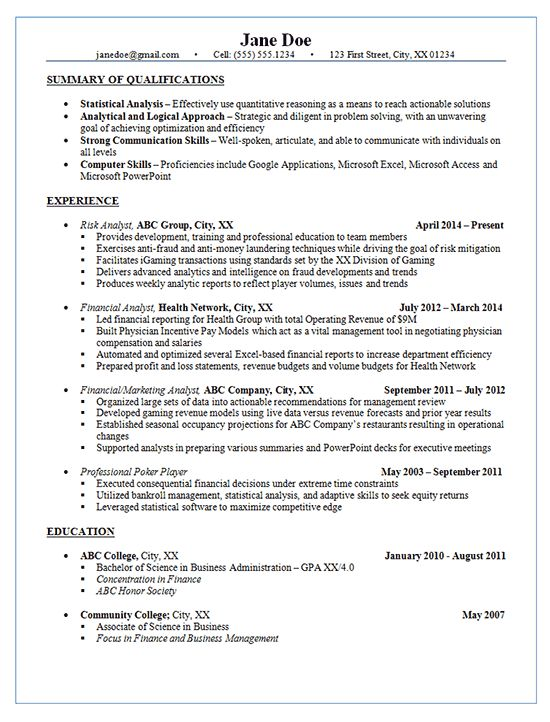 Financial Reporting Analyst Sample Resume] Professional ...
