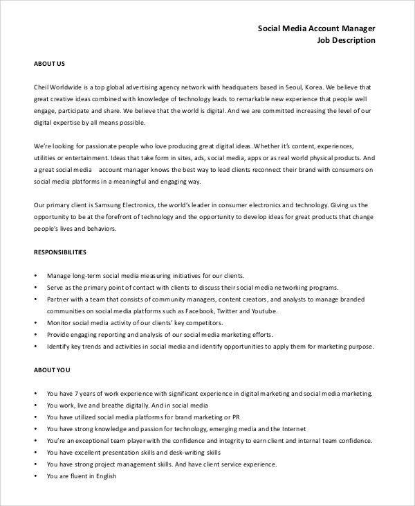 key account manager job description