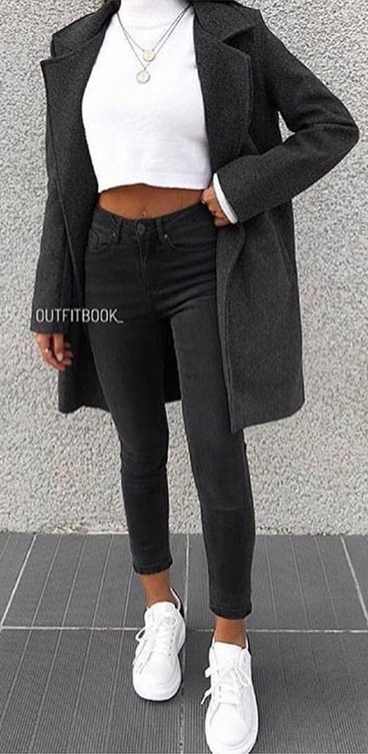 black long cardigan #spring #outfits