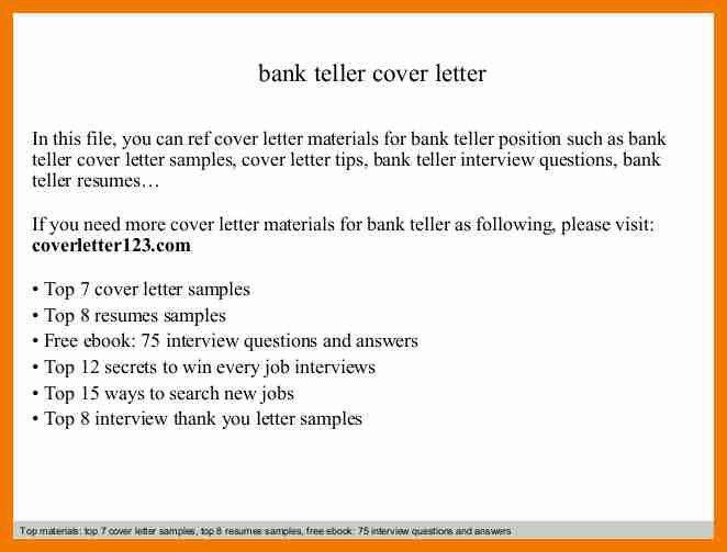 Vault Teller Cover Letter Env1198748resumecloud