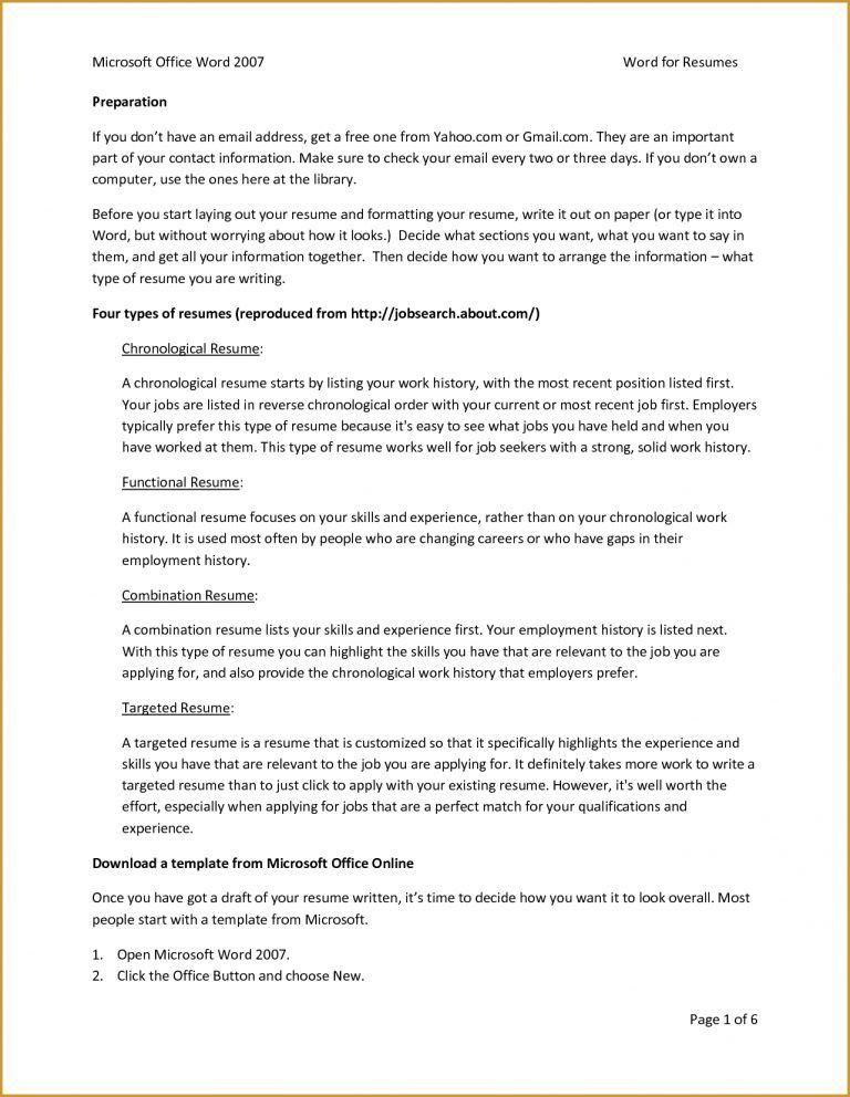 Microsoft Office Resume Templates 2013 Template