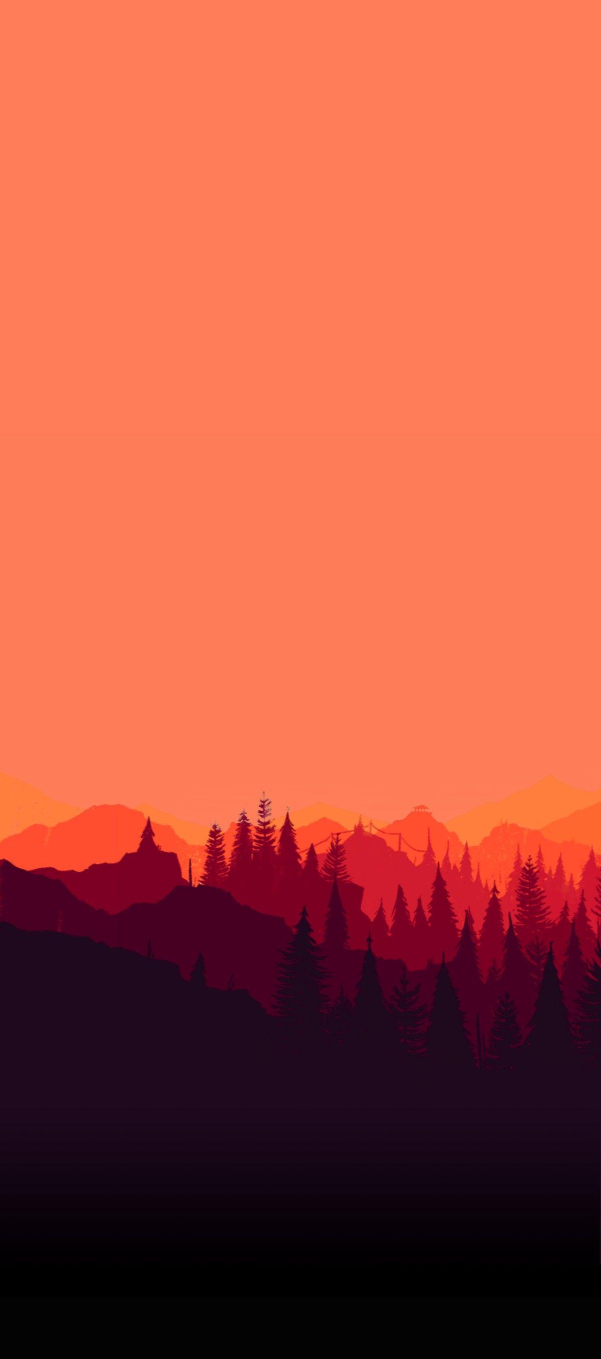 Sky Sunset Mountain Pink Wallpaper Clean Galaxy