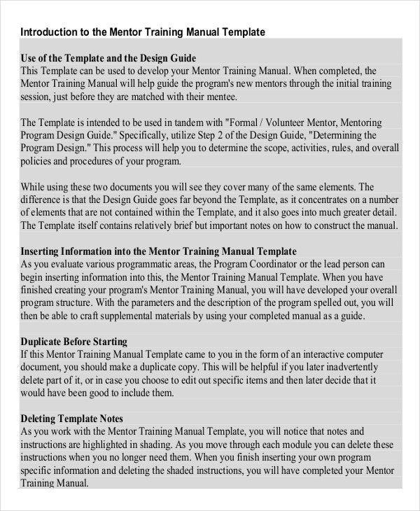 Sample Training Manual Template Sample Training Manual 10 - sample user manual template