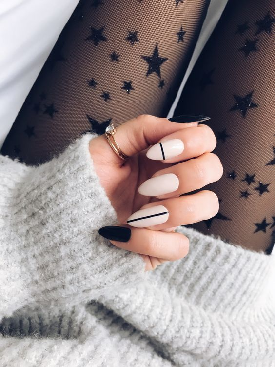 Black Nude Nails. 30 Beautiful Nude Color Nail Designs |