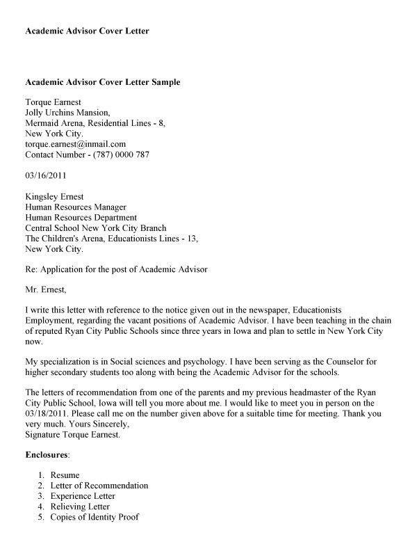 Sample Letters To Academic Advisor Inspirational Best Cover