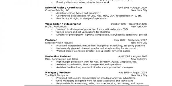 managing editor resume