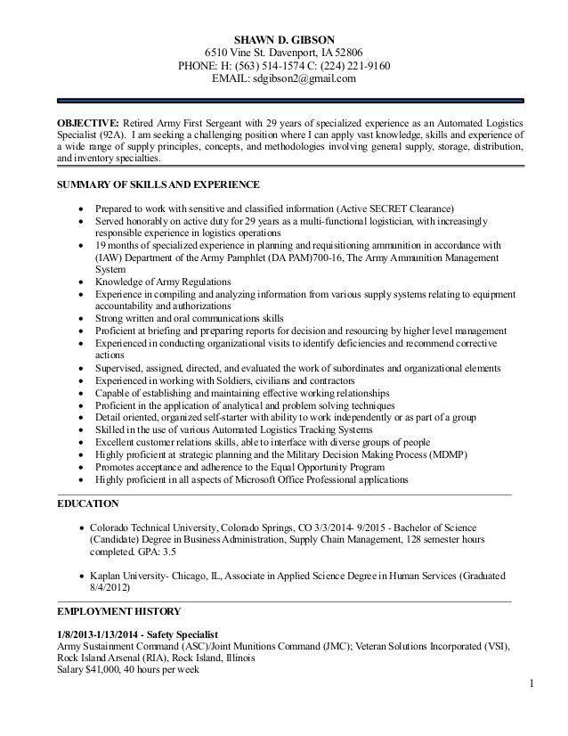Safety Specialist Resume staffing specialist resume - contract specialist resume
