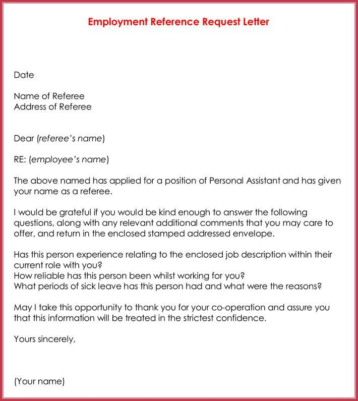 Sample Of Reference Letter From Employer Sample Recommendation - employee thank you letter