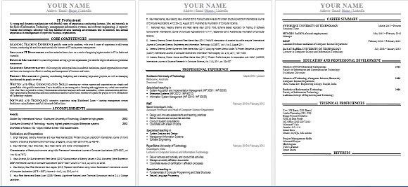 Examples Of Australian Resumes - Examples of Resumes