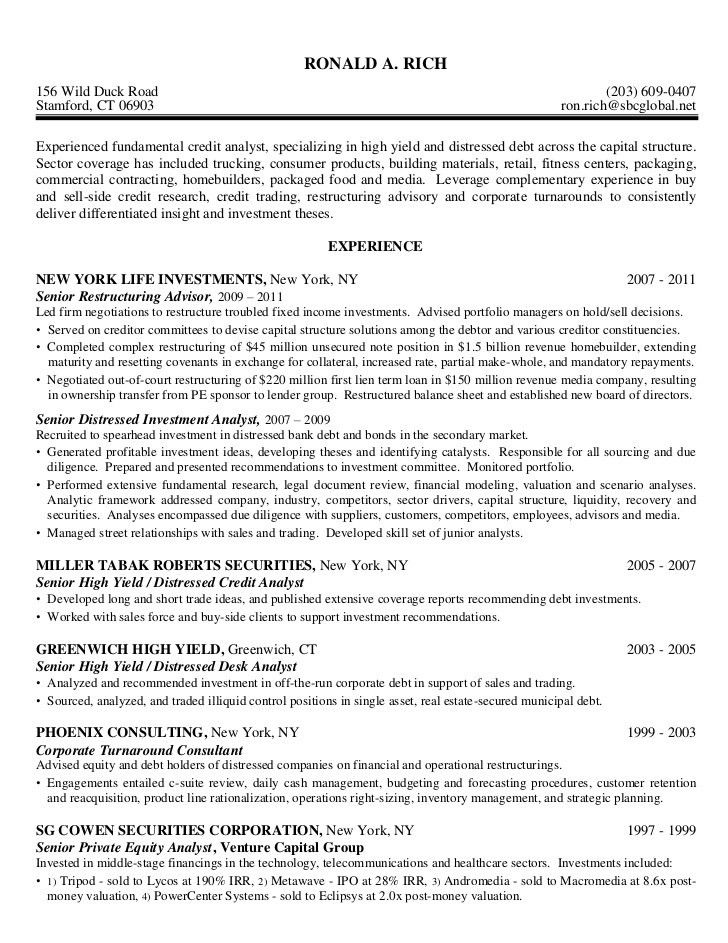 Credit Analyst Resume Example - Examples of Resumes - equity research analyst sample resume