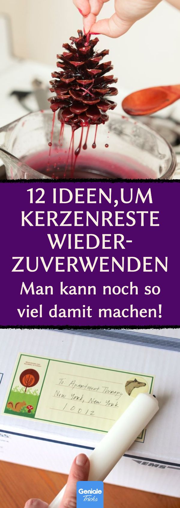 12 Ideen,um Kerzenreste wiederzuverwenden. #kerzenreste #wachsreste #upcycling #kerzen