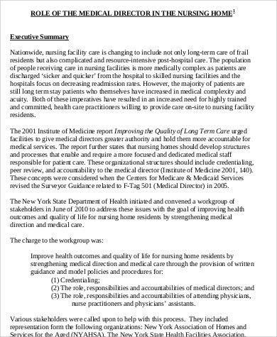 medical director job descriptions cvresumeunicloudpl - director of nursing job description