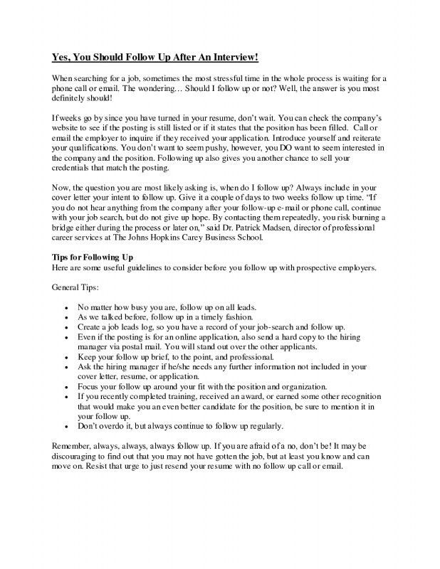 Ideas Collection Follow Letter after Sending Resume Should I Follow