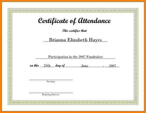 Free Customizable Printable Certificates Of Achievement Templates - printable certificate of attendance