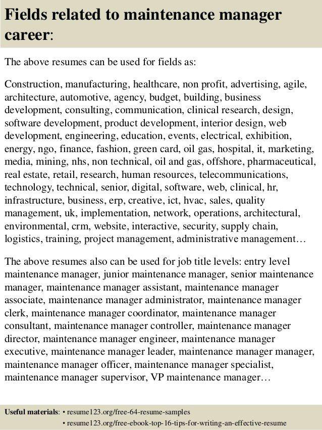 Apartment Maintenance Supervisor Resume Professional Apartment - maintenance resume template