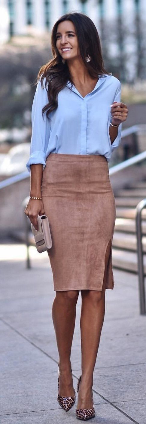 brown mid skirt