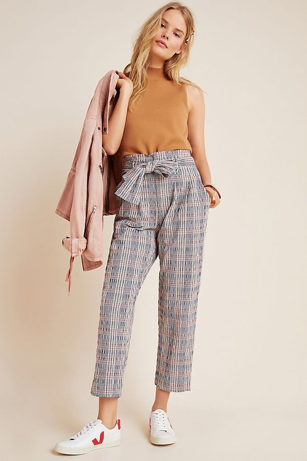 Hazelle Plaid Slim Pants