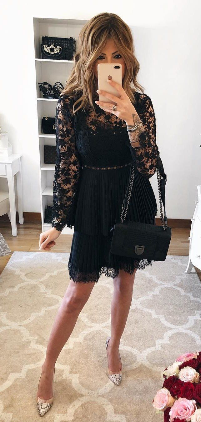 black and brown floral dress #spring #outfits