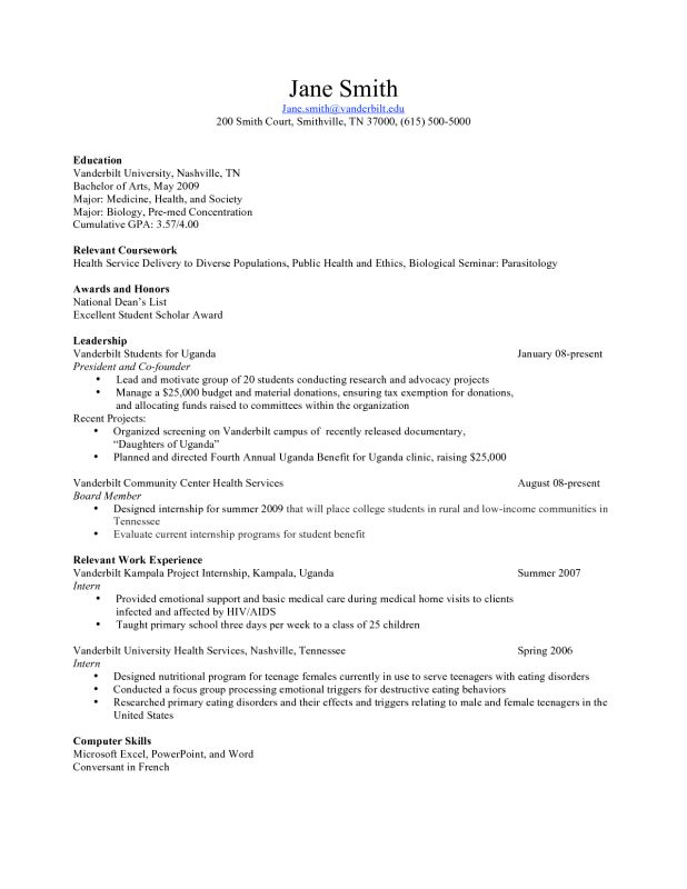 Teen Sample Resume 12 Free High School Student Resume Examples - teenage resume example