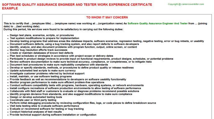 sample qa tester resumes