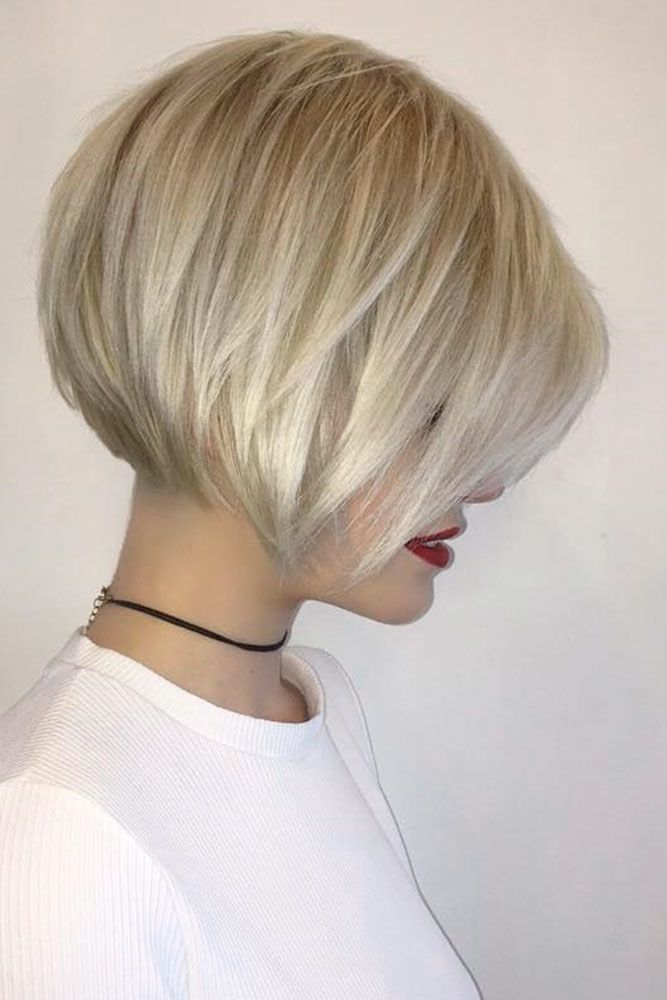 Traditional Layered Bob #shorthair #blondehair ★ Bob haircuts will never lose their popularity. Whether short or long, angled or stacked, straight or wavy, a bob looks awesome. #glaminati #lifestyle #bobhaircuts