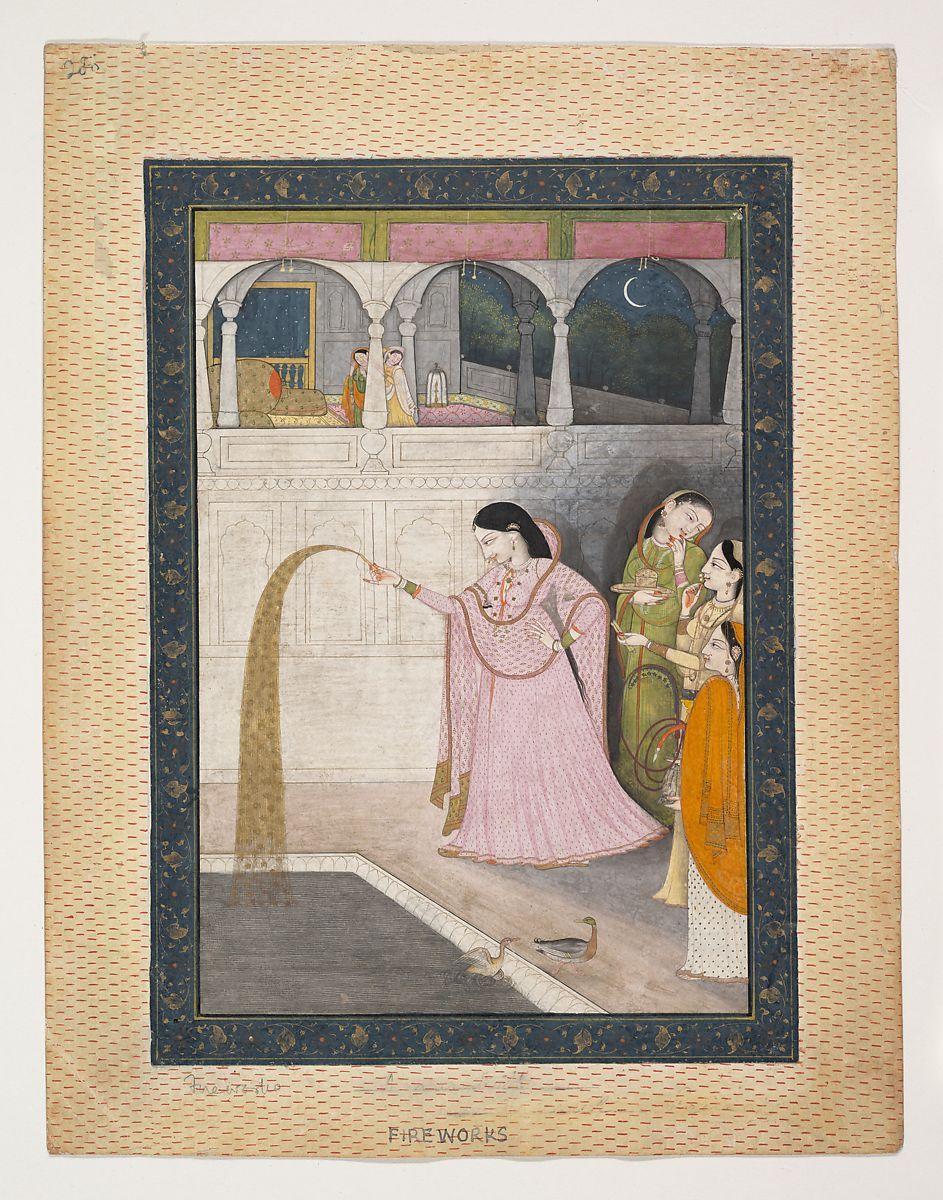 Lady Holding a Sparkler | India (Punjab Hills, Kangra) | The Met