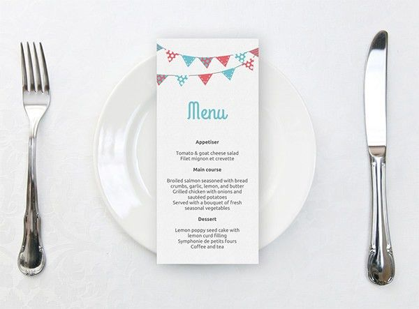 Dinner Party Menu Templates Free Download Dinner Menu Template 33 - dinner party menu template