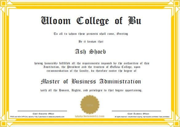 Business Certificate Template Word Certificate Template 31 Free - certificate of recommendation sample