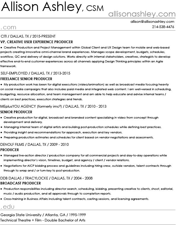 broadcast producer resume env 1198748 resumecloud - Web Producer Resume