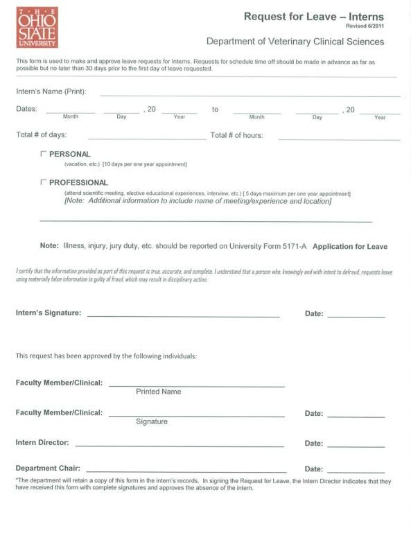 Application For Leave Format] For Leave Extension Format And