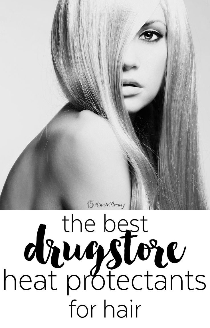 best drugstore heat protectants for hair