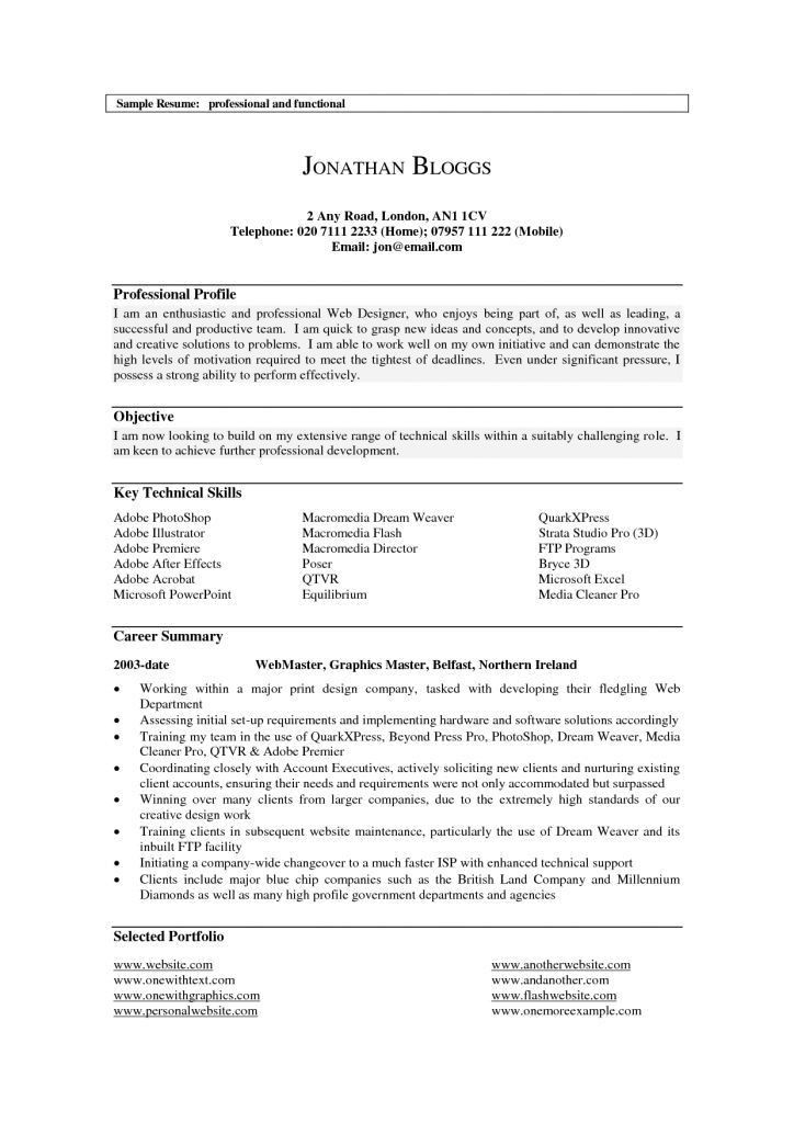 professional profile for resumes