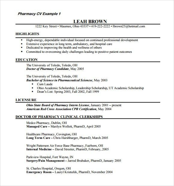 beautiful resume for hospital pharmacy internship pictures