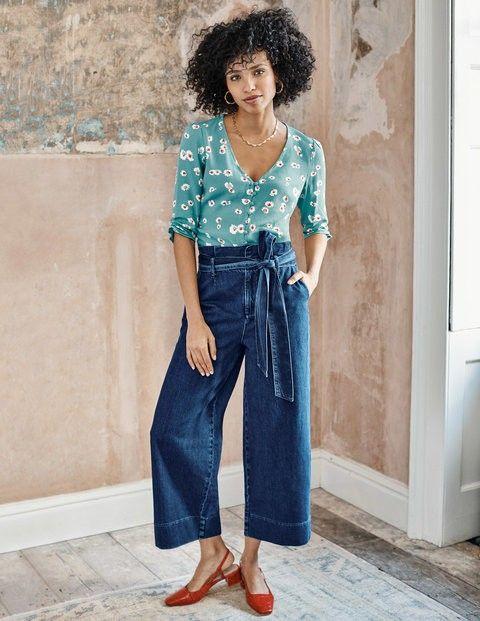 Paperbag Wide Leg Jeans - Mid Vintage