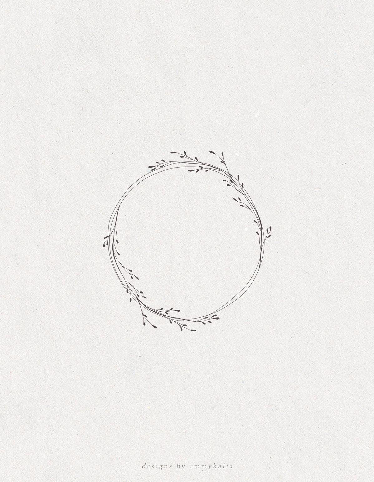 Botanische Kranz Hand skizziert Clip Art Illustration, Vektor & Png transparenten Hinterg...