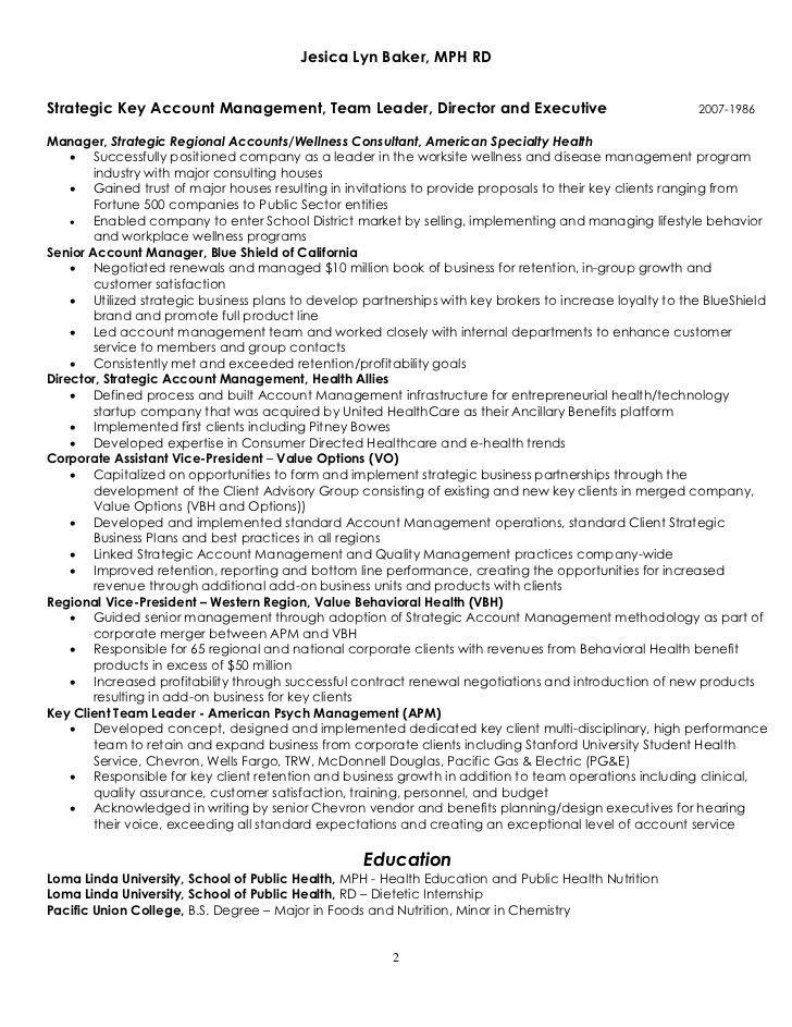 dietetic internship resume