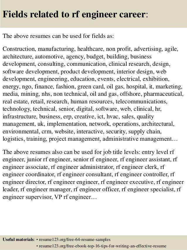 ... Rf Engineer Resume Sample Top 8 Rf Engineer Resume Samples, Top 8   Rf  Engineer ...  Rf Engineer Resume