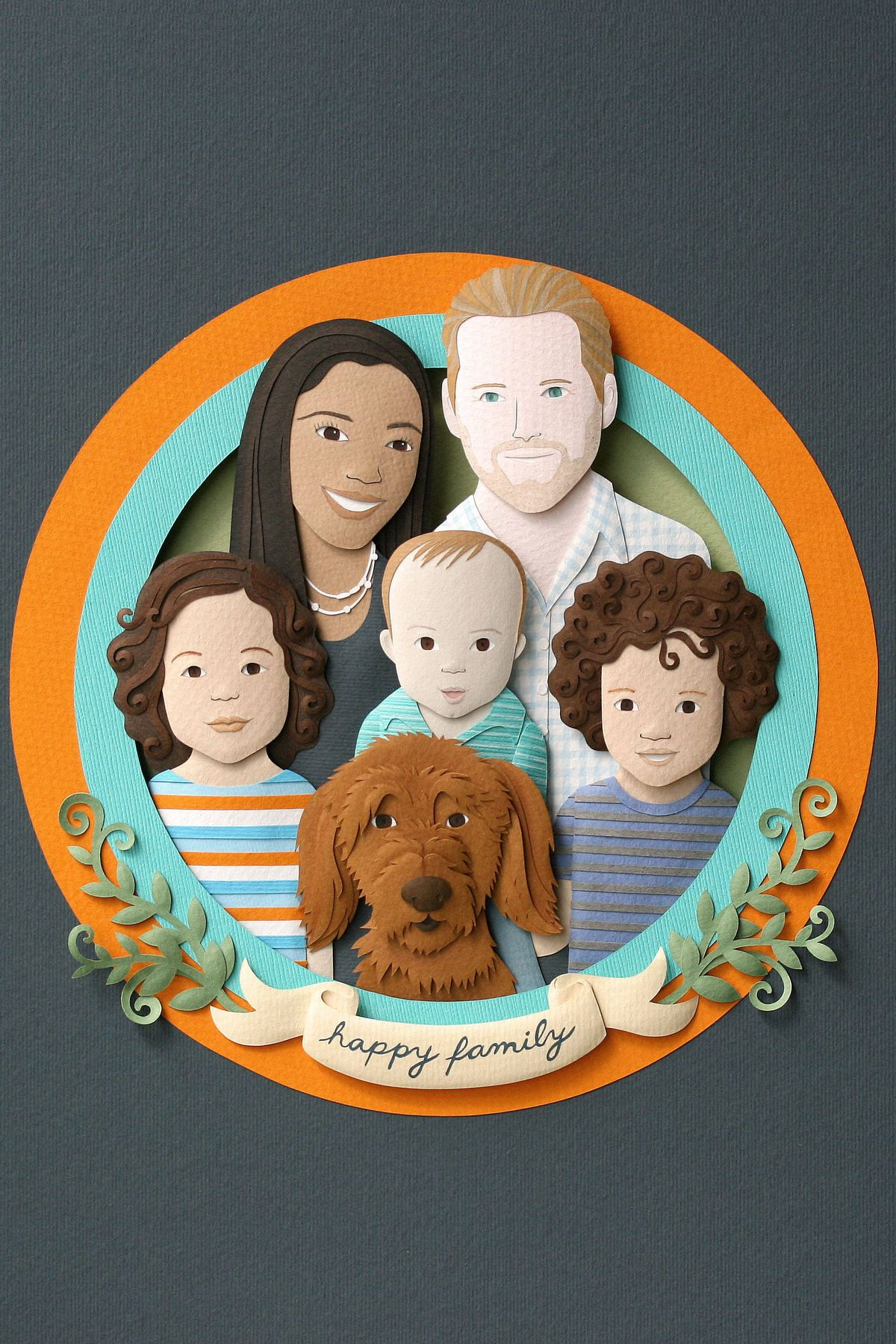 Custom Paper Family Portrait