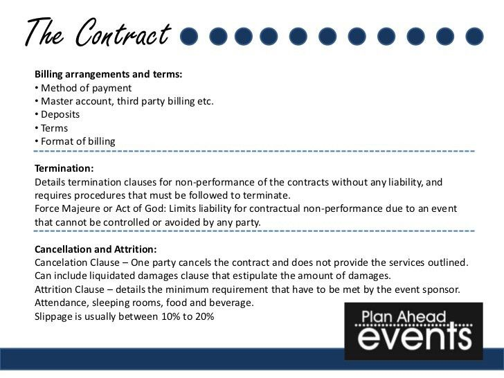 Free Event Planner Contract Template Event Contract Template 18 - event planner contract