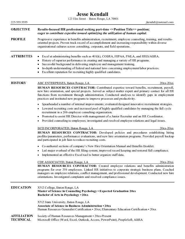 hr professional resumes