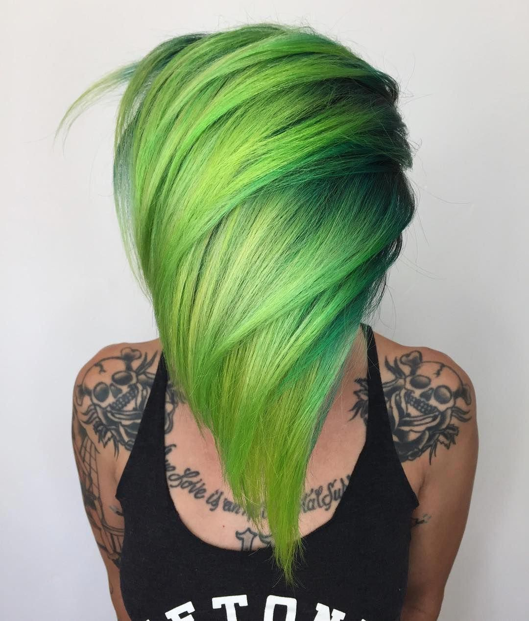 Add orange to tips green hair colors hair styles