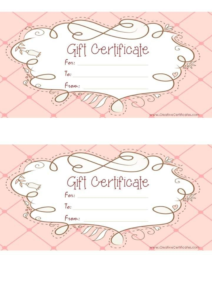 Printable Gift Vouchers Template Click Here For Full Size - free template gift certificate