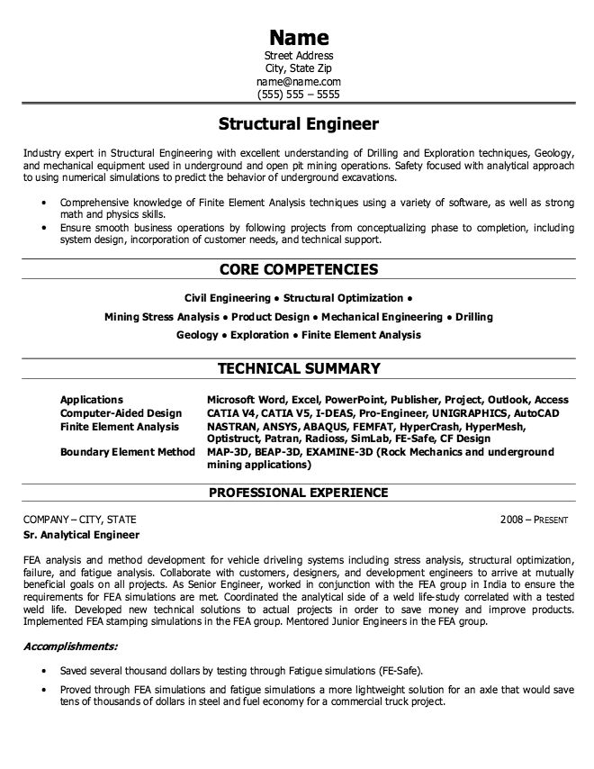 Mining Resume Example - Examples of Resumes