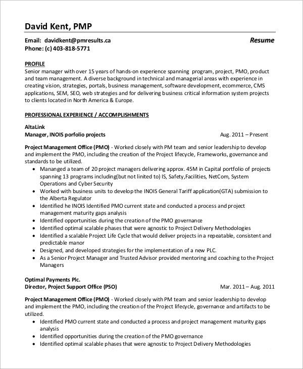 Program Manager Resume Unforgettable Technical Project Manager - pmo director resume